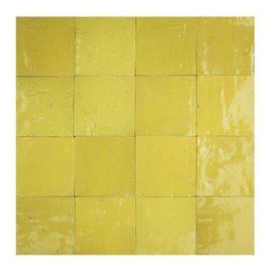 Marokkaanse handgemaakte zelliges geel