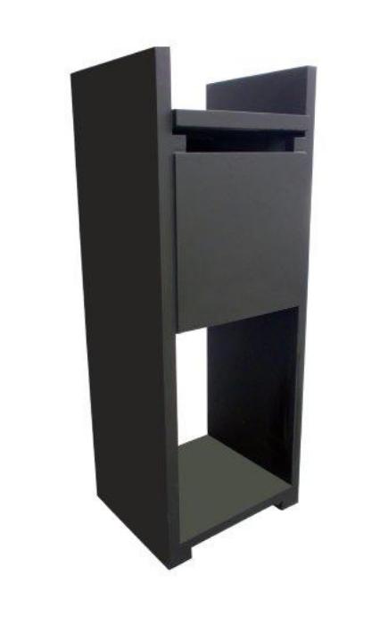 blauwsteen brievenbus zwart Model 80